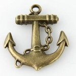Anchor and Chain Pendant - Vintage Bronze